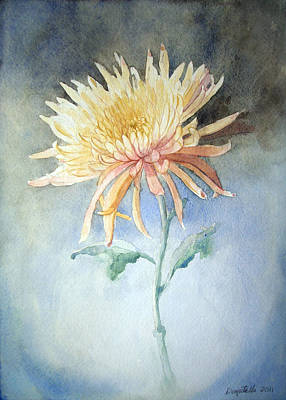 Mums Painting - Peach Spider Emerging by Kathryn Donatelli