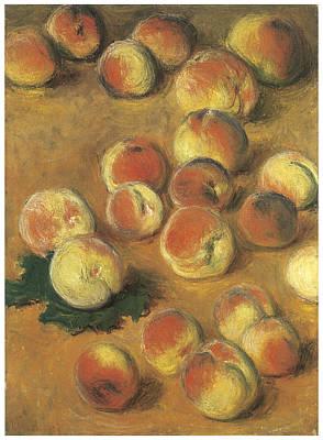 Peaches Print by Claude Monet
