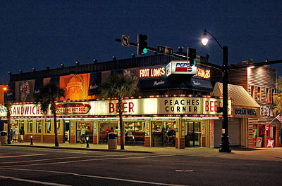 Diner Photograph - Peaches Corner by Suzanne Gaff