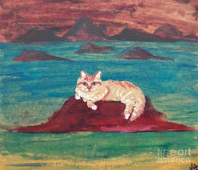 An Island Painting - Peaches On An Island by Judy Via-Wolff