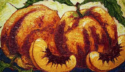Peaches Print by Paris Wyatt Llanso