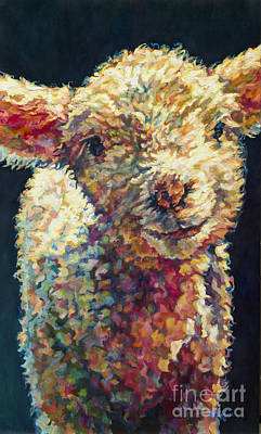 Sheep Painting - Peaches by Patricia A Griffin