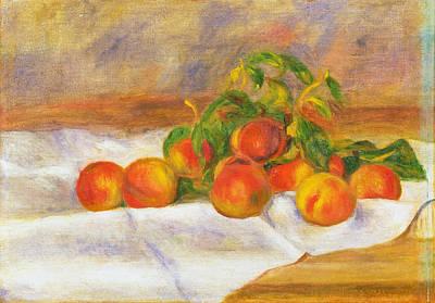 Pierre-auguste Renoir Painting - Peaches by Pierre-Auguste Renoir