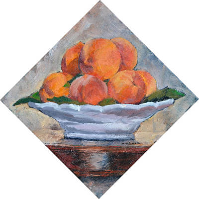 Ceramic Glazes Painting - Peaches by Roger Clark