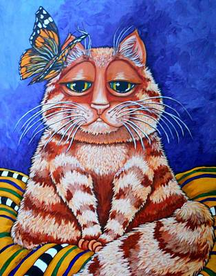 Peaches The Cat Original by Sherry Dole