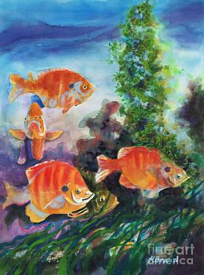 Adrift Painting - Peachies Adrift 2 by Kathy Braud