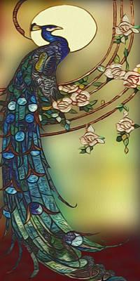 Pheasant Digital Art - Peacock 2 by Jack Zulli