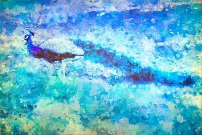 Birds Mixed Media - Peacock Blues Art by Priya Ghose