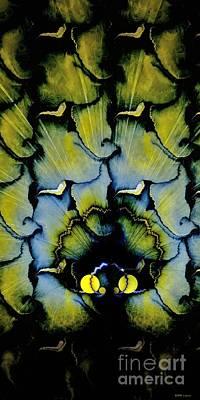 Peacock Dream 3 Print by Elizabeth McTaggart