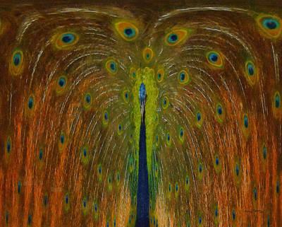 Peacock Digital Art - Peacock Fountain by Ernie Echols