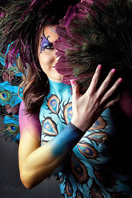 Body Paint Photograph - Peacock I by David April