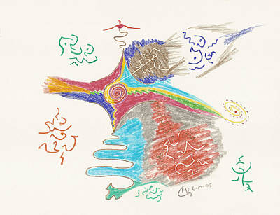 Visionary Art Drawing - Peak Experience Of The Heart by Mark David Gerson