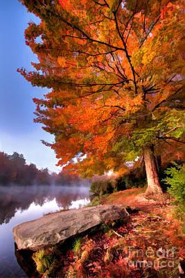 Peak Of Color - Blue Ridge Parkway Price Lake Print by Dan Carmichael