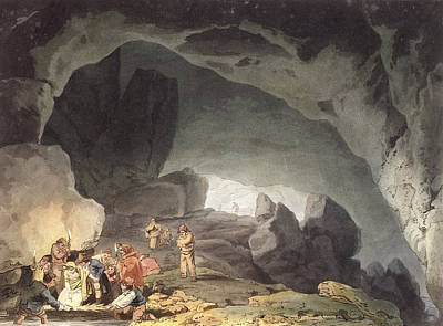 Cavern Drawing - Peaks Hole, Derbyshire by Joseph Mallord William Turner