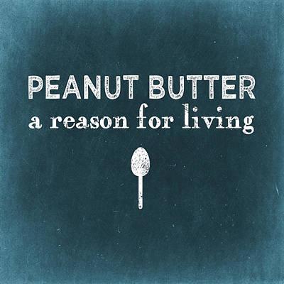 Peanut Butter Print by Flo Karp