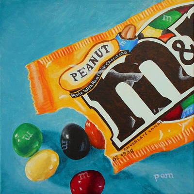 Snack Bar Painting - Peanut M And Ms by Pamela Burger