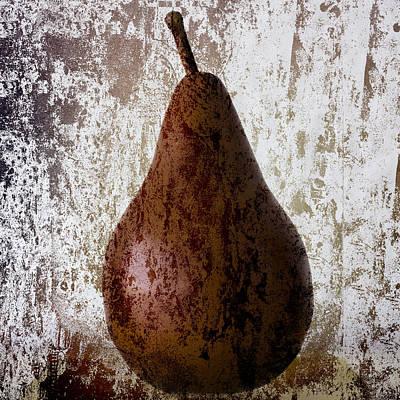 Pear On The Rocks Print by Carol Leigh