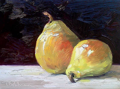 Painting - Pear Pair by Tina Bohlman