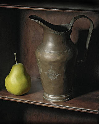 Pear With Water Jug Print by Krasimir Tolev