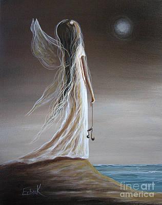 Fantasy Art Painting - Pearl Fairy Art Print by Shawna Erback