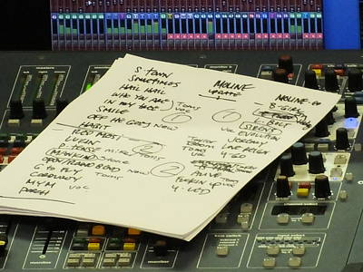 Pearl Jam Photograph - Pearl Jam Set List- Moline by Gary Koett