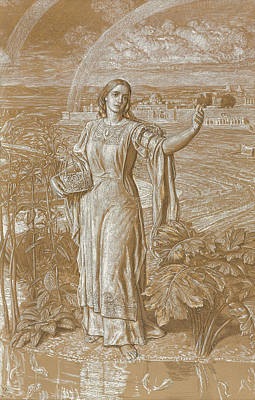Edge Drawing - Pearl by William Holman Hunt
