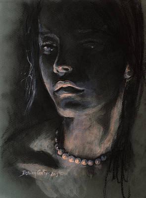 Emotion Mixed Media - Pearls by Dorina  Costras