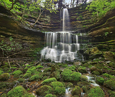 Photograph - Pearly Springs Waterfall Buffalo by Tim Fitzharris