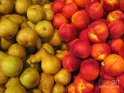 Pears And Peaches. Fresh Market Series Print by Ausra Huntington nee Paulauskaite