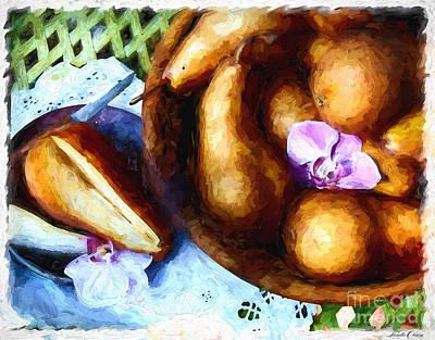 Cauliflower Digital Art - Pears From Above by Linda Olsen