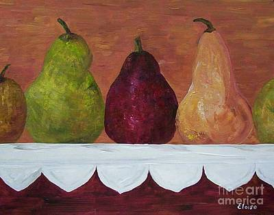 Modern Painting - Pears On Parade   by Eloise Schneider