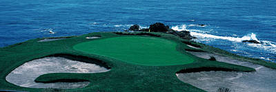 Ca Photograph - Pebble Beach Golf Course 8th Green by Panoramic Images