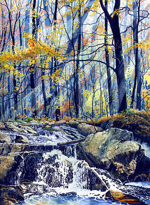 Pebble Creek Autumn Original by Hanne Lore Koehler