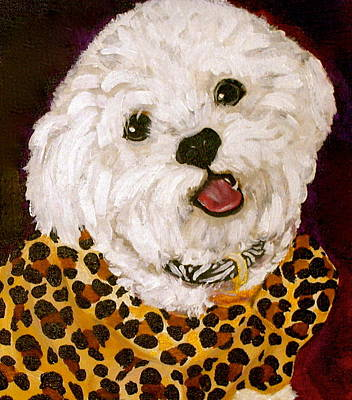 Small Dogs Painting - Pebbles by Debi Starr