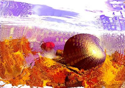 Purple Digital Art - Pebbles On A Beach by Anastasiya Malakhova