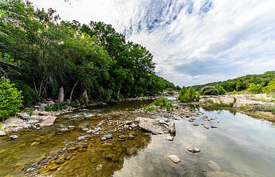 Pedernales River - Downstream Print by David Morefield