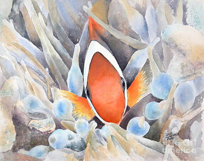 Anemonefish Painting - Peek-a-boo -sold by Lisa Pope