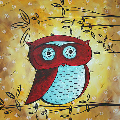 Whimsy Painting - Peekaboo By Madart by Megan Duncanson