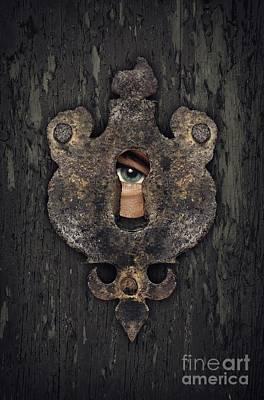Green Eyes Photograph - Peeking Eye by Carlos Caetano