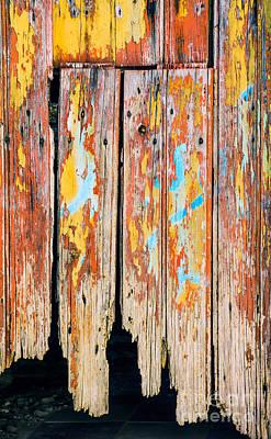 Peeling Door Print by Carlos Caetano