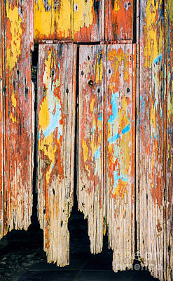 Painted Details Photograph - Peeling Door by Carlos Caetano