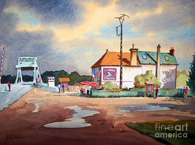 Liberation Painting - Pegasus Bridge And Cafe Gondree by Bill Holkham