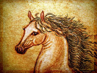 Horse Mixed Media - Pegasus Friend 2  by Ananda Vdovic