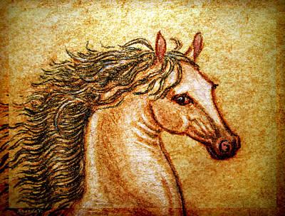 Pegasus Mixed Media - Pegasus Friend  by Ananda Vdovic