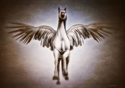 Pegasus Digital Art - Pegasus by Ramon Martinez