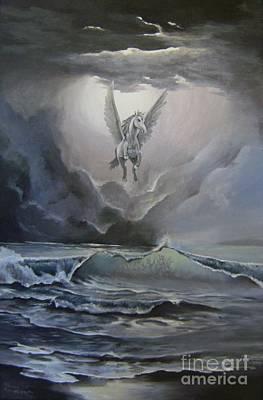 Pegasus - Seascape Original by Athina Kanellopoulou