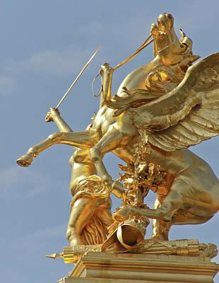 Pegasus Photograph - Pegasus Statue At The Pont Alexander by William Sutton