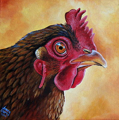 Bantam Painting - Peggy by Laura Carey