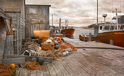 Net Photograph - Peggy's Cove 17b Hue by Betsy Knapp