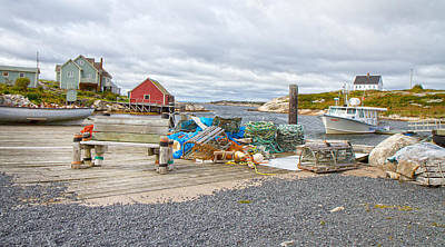 Bouys Photograph - Peggy's Cove 2 by Betsy Knapp